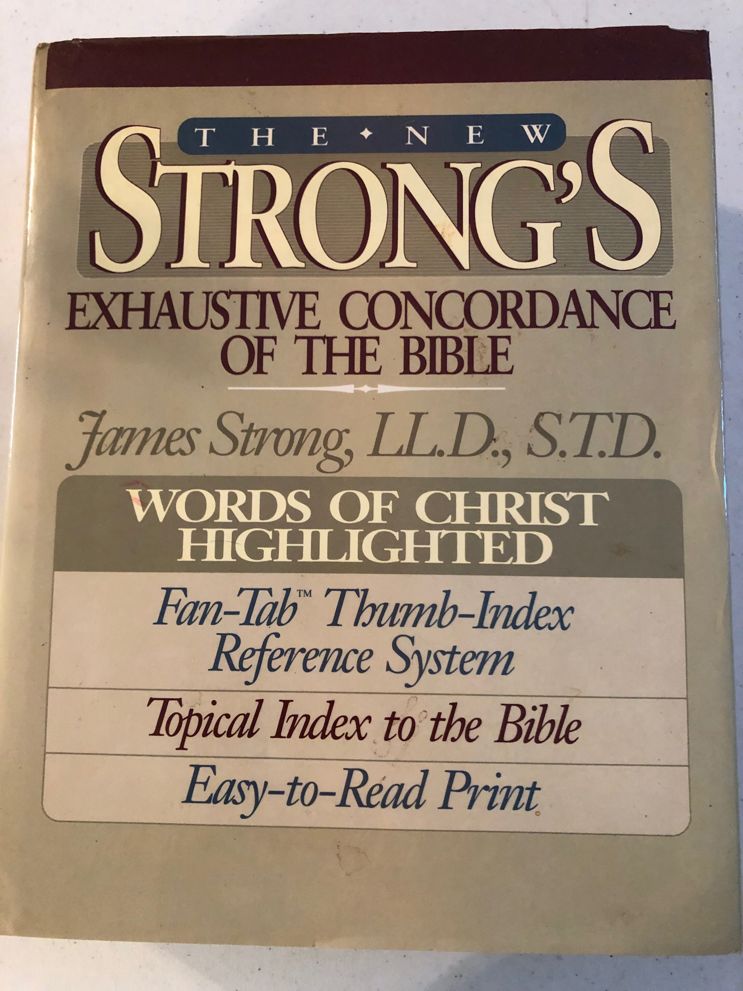 Strong's Concordance hardcover 1990